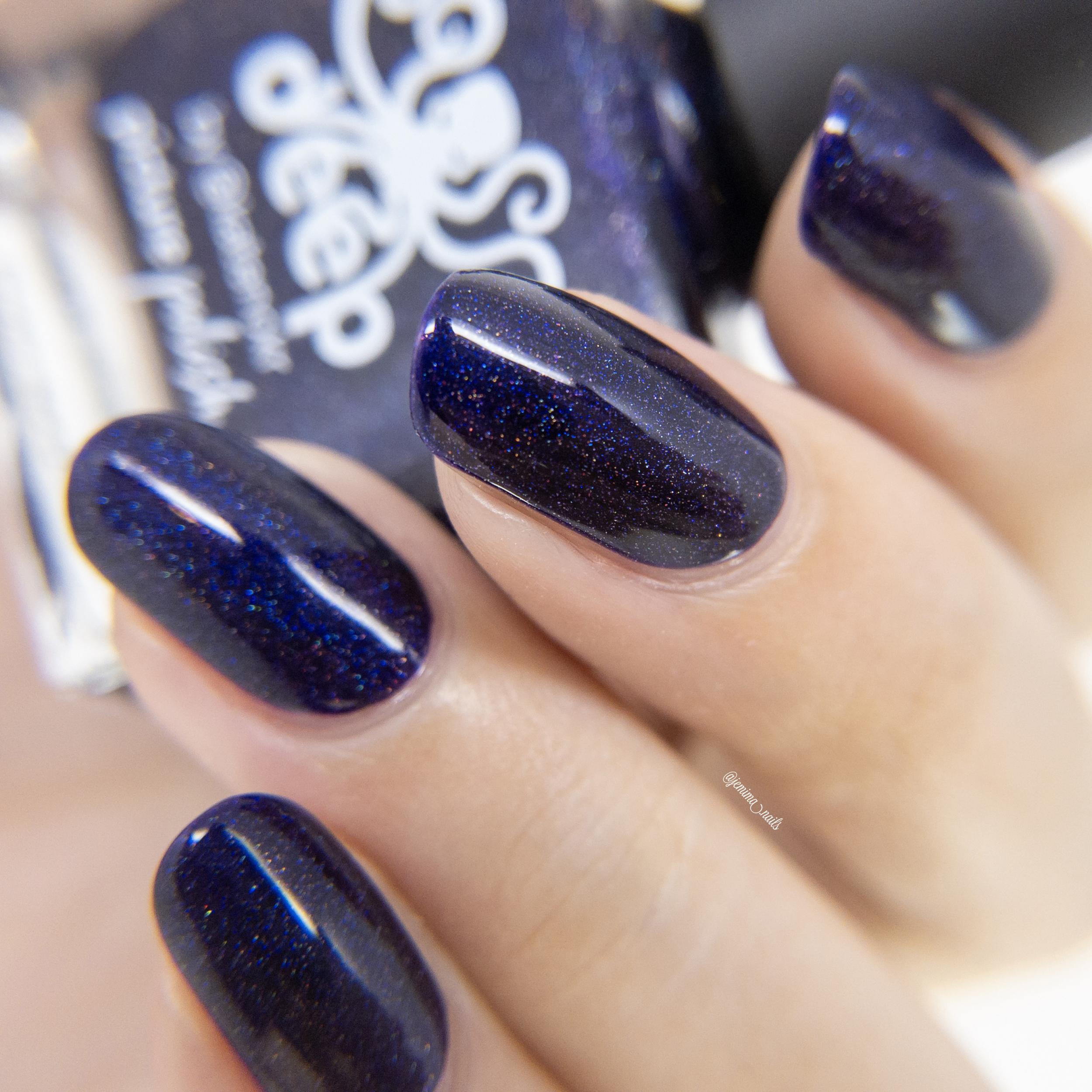 Purple Nail Polish Deep Swatch