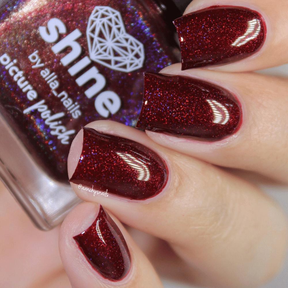 Nail Polish Holographic Shine Swatch